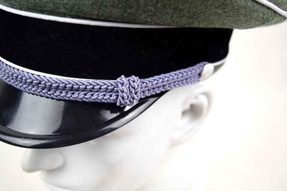 ... Men s WWII GERMAN ELITE OFFICER HAT OFFICER ARMY WOOL VISOR CRUSHER CAP  IN SIZES 1214b59917b0