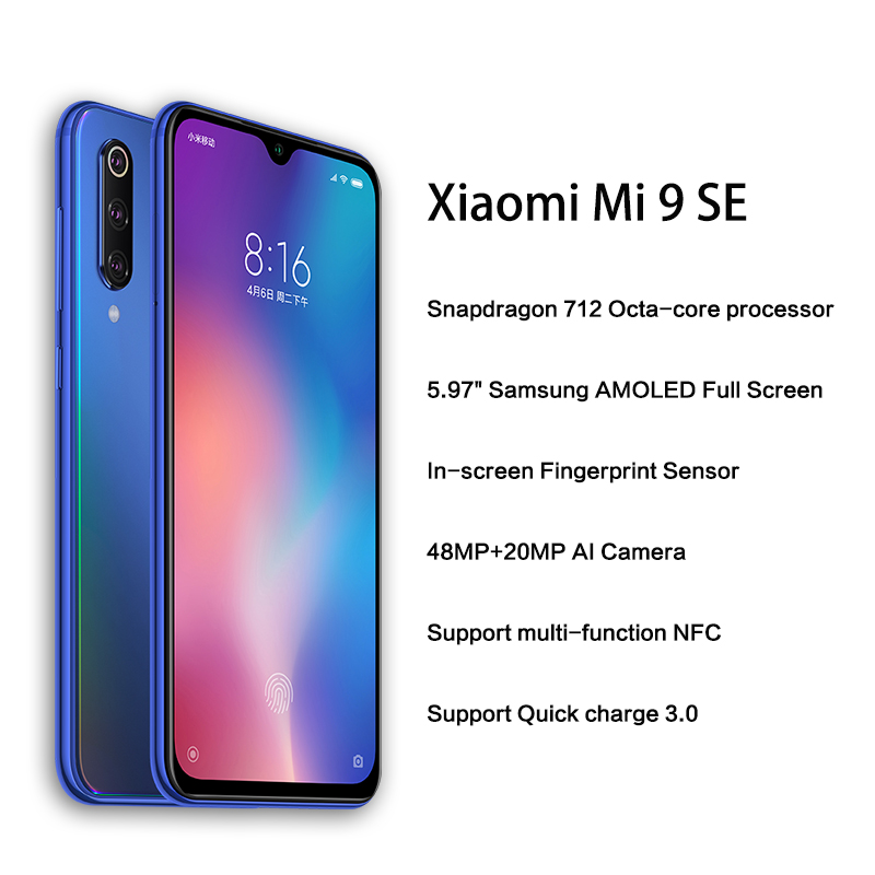 """Global Version Xiaomi Mi 9 SE Mi9 SE 6GB 128GB Smartphone Snapdragon 712 CPU 5.97"""" AMOLED FHD+ Screen 48MP Triple Cameras NFC CE-in Cellphones from Cellphones & Telecommunications    2"""
