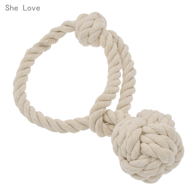 She Love American Syle Cotton String Curtain Hanging Ball Buckle ...