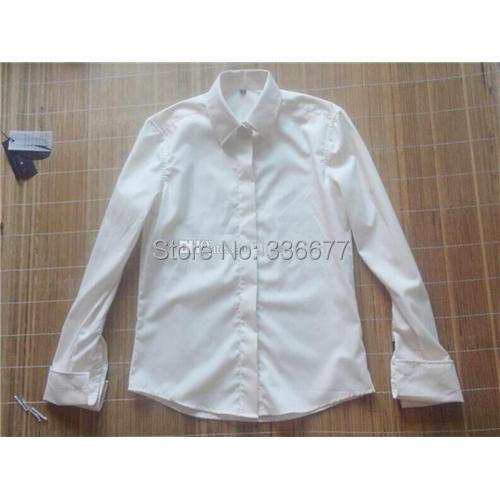Slim Fit Mens Dress Shirts Popular Long Sleeve White Mens Business Shirts Cotton and Polyester Material Hot Sale QR-0018