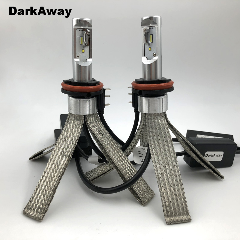 DarkAway Best <font><b>H15</b></font> <font><b>LED</b></font> Bulb 40W 5600LM Car Headlight Lamp High Beam Light Canbus <font><b>No</b></font> <font><b>Error</b></font> For Golf MLK image