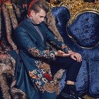 Free Shipping fanzhuan New style 2017 fashion casual man male Winter Men's man long slim warm coat printed 710141 suit collar