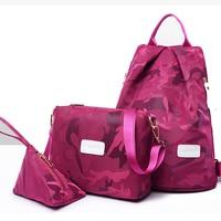 camouflage travel backpack women shoulder bag set light weight nylon backpack travel waterproof backpacks college woman bag 2019