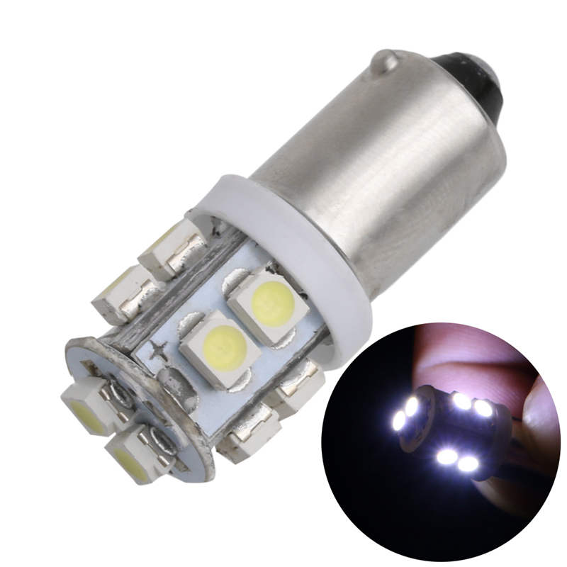1Pc BA9S W5W 10 SMD 1210/3528 Car Auto Width Lamp License Plate Light Tail Bulb