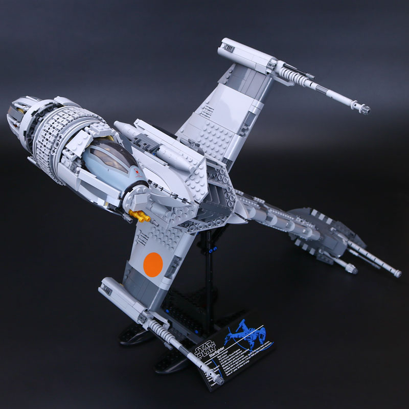 Lepin 05045 B-Wing Starfighter building bricks blocks Toys for children Game Weapon Compatible with Decool Bela 10227 lepin 05040 y attack starfighter wing building block assembled brick star series war toys compatible with 10134 educational gift