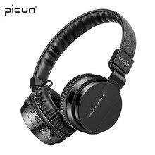 Picun p2 + stéréo bluetooth 4.0 casque sans fil casque sur l'oreille casque avec microphone soutien tf carte fm radio