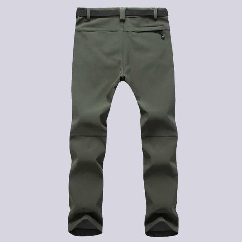 d4bfdea1f37dc ... Men Women Winter Warm Softshell Thermal Velvet Pants Windproof  Waterproof Male Thick Stretch Trousers Lined Fleece