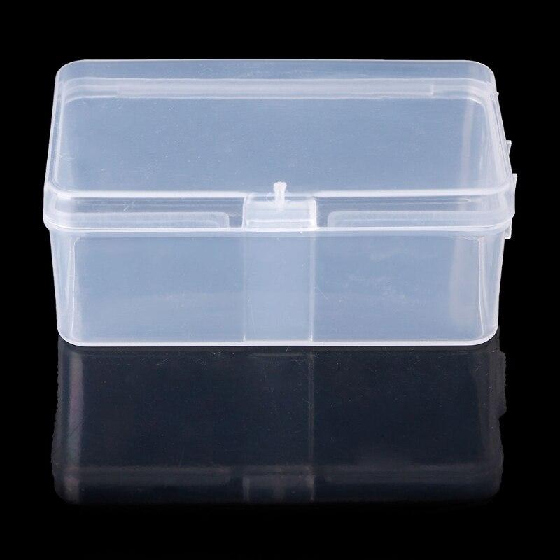 Rectangular Plastic Transparent Storage Box Jewelry Beads Container Organizer  7.8*4.9*3CM