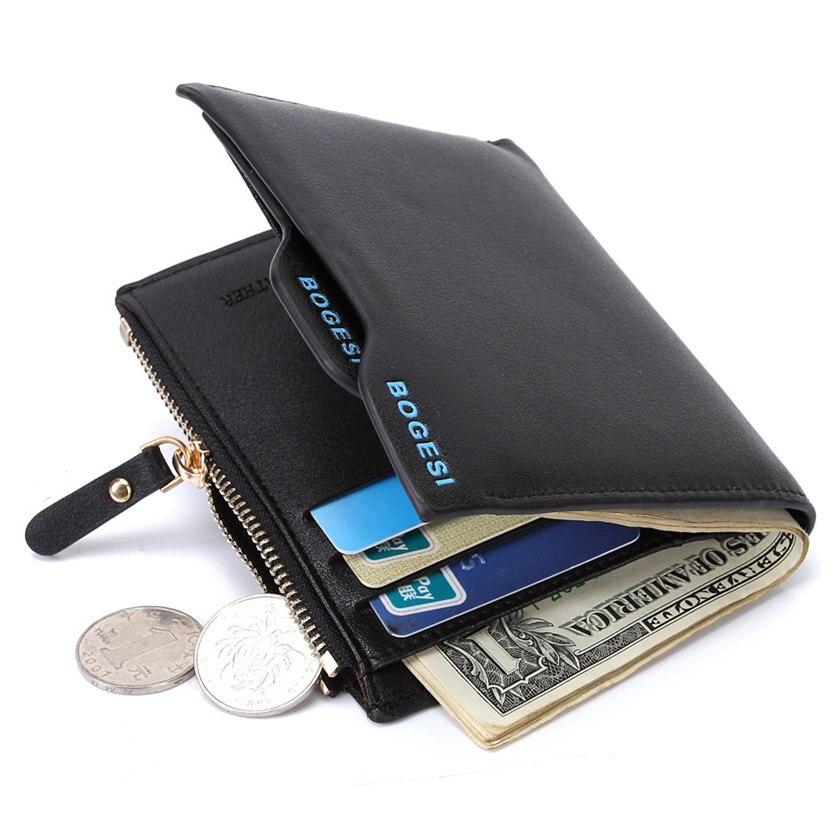 Fashion Brand Men Wallets PU Leather Rfid Smart Short Wallet Removable Card Holder Male Zipper Coin Purse Dollar Price Portfolio
