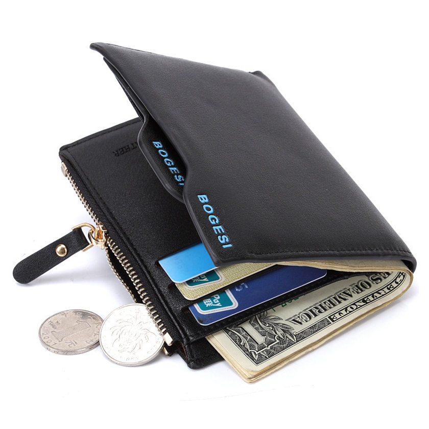 Fashion Brand Men Wallets PU Leather Rfid Smart Short Wallet Removable Card Holder Male Zipper Coin Purse Dollar Price Portfolio