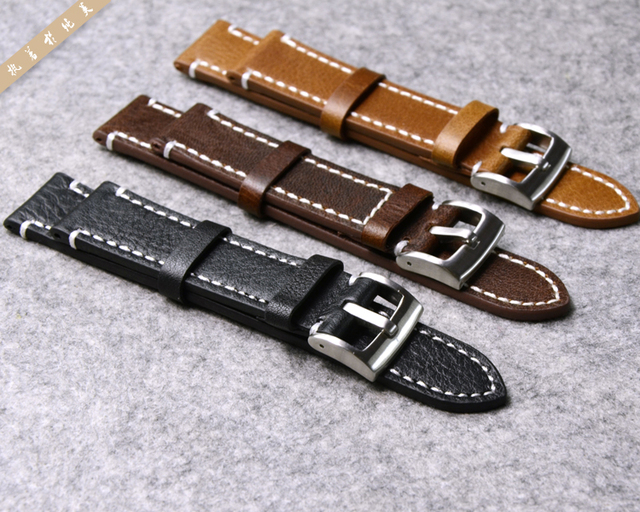 Genuine Leather Watchband Watch Strap for Longines/Mido/Tissot/Seiko 18mm 19mm 20mm 21mm 22mm 23mm Yellow Brown Black Watchbands