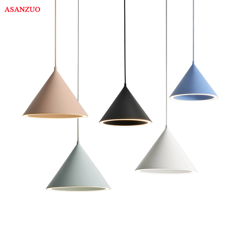 Modern Nordic minimalist creative hanging lights macarons pendant light for living room restaurant bar lighting fixture modern bar restaurant table minimalist pendant lights nordic creative retro garden lamps lu812267