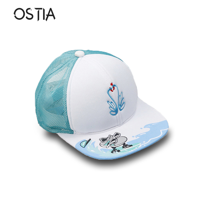 3d46a1279fe 2018 Hot Cartoon Cute Swan Hats Children Snapback Caps Baseball Cap With  Ears Funny Hats Spring Summer Hip Hop Boy Hats Caps H35