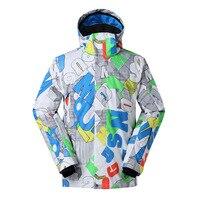 Men Snowboarding Suit Ski Jacket Winter Warm Waterproof Windproof Snowboard Suit Windbreakers Coat Outerwear Winter Ski