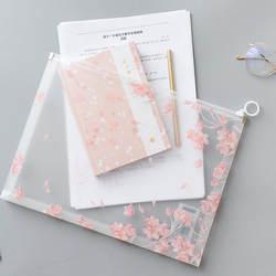 1 шт Kawaii Cherry Сакура и пуговицы офис молния папки файла A4 школьные канцелярские принадлежности Дети Студент подарки канцелярские