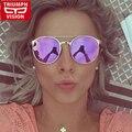 TRIUMPH VISIÓN Gafas de Moda Retro de Las Mujeres gafas de Sol de Espejo Redondo de Metal de Alta Calidad de La Vendimia Gafas de Sol Mujer 2016 Nuevos Tonos