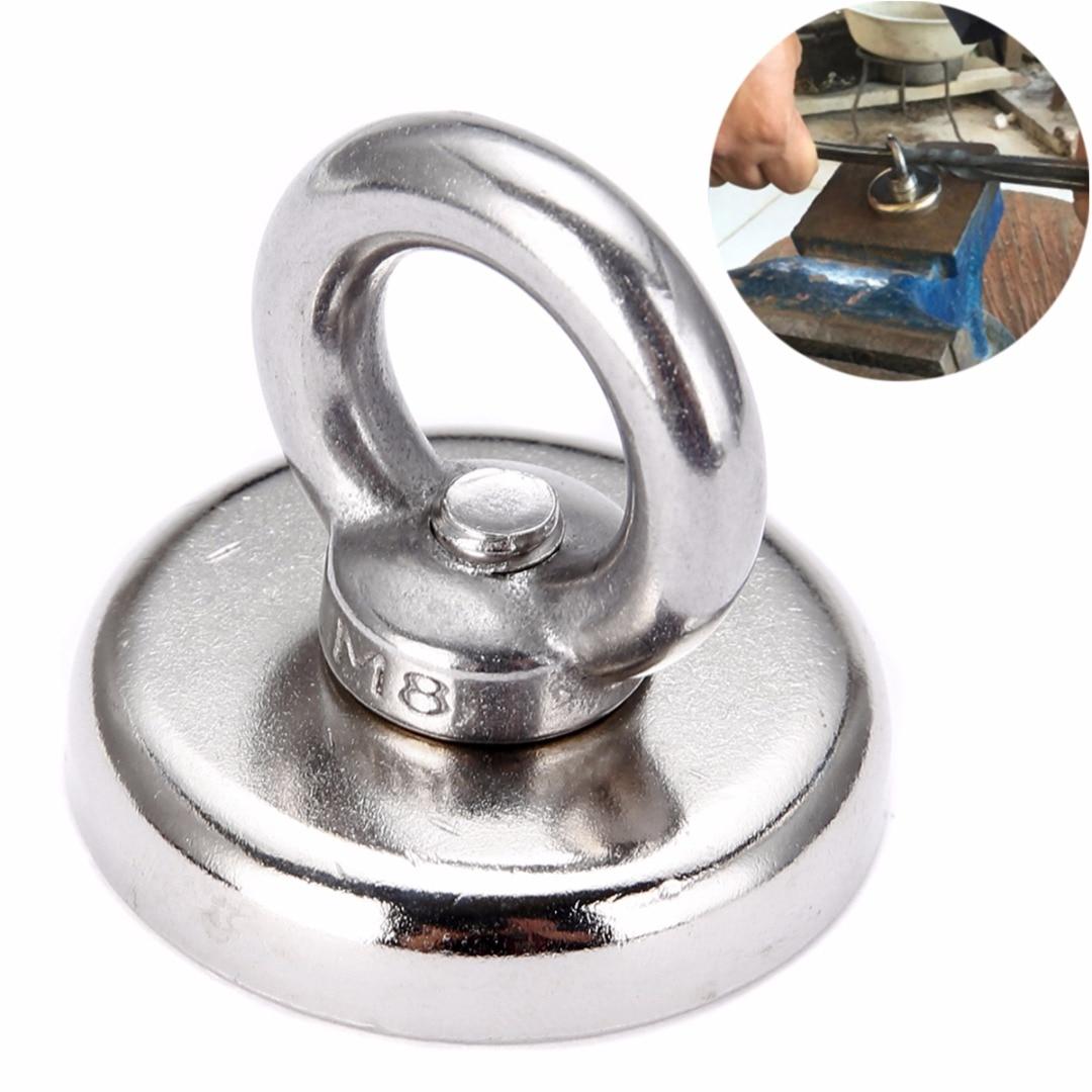 60 kg salvamento magnético fuerte recuperación imán mayitr neodymium eyebolt circular anillo detector imanes 48*58mm para recuperar teclas