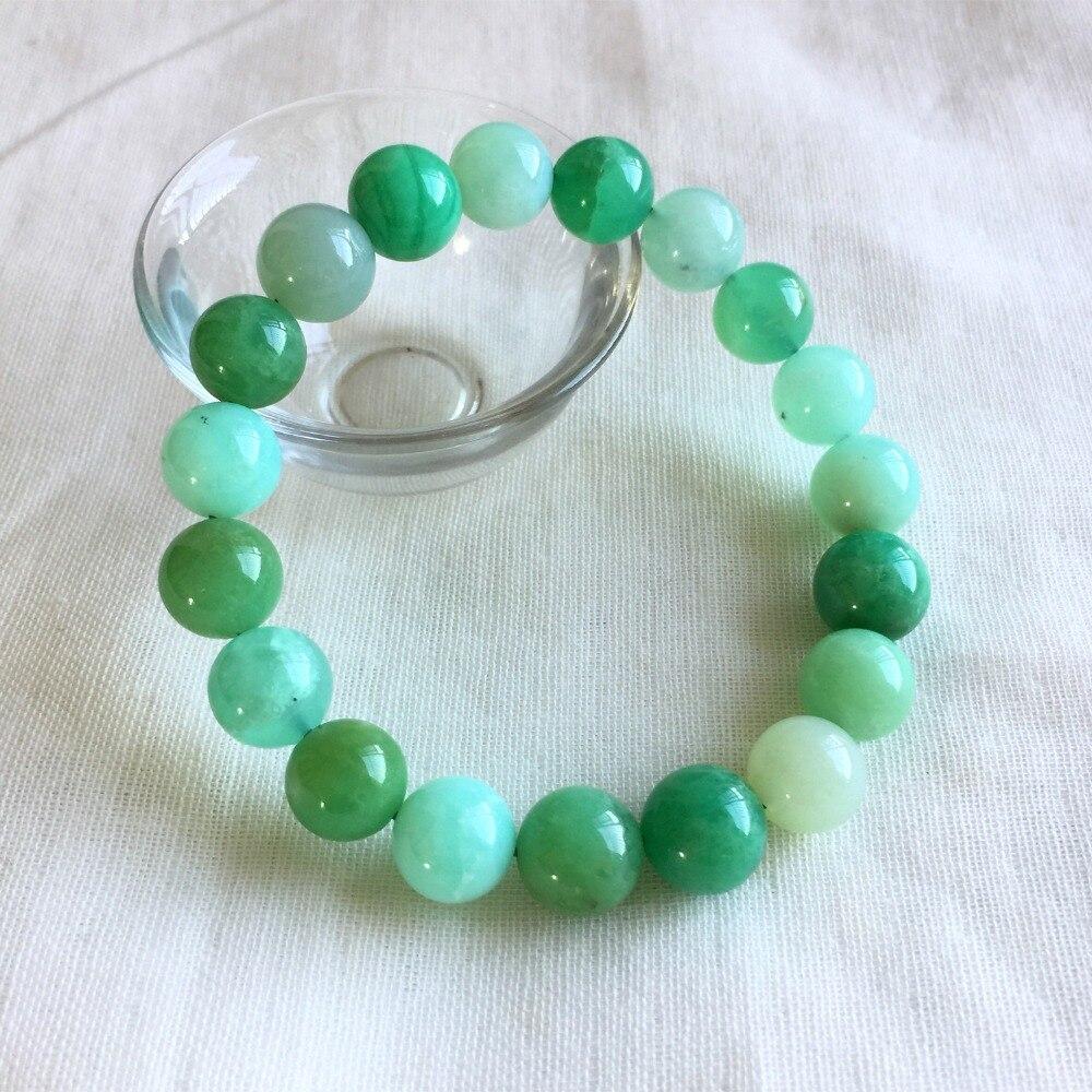 Véritable naturel bleu herbe vert australie Jade Chrysoprase Stretch Bracelet perles rondes 10mm 05232
