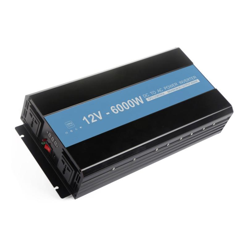 6000 W Car Power Inverter Convertitore DC 12 V a 220 V AC Onda Sinusoidale Modificata Power di Controllo di Temperatura Intelligente caricatore USB6000 W Car Power Inverter Convertitore DC 12 V a 220 V AC Onda Sinusoidale Modificata Power di Controllo di Temperatura Intelligente caricatore USB