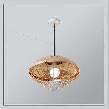 ModernRose banhado a Cor do Ouro gota de ferro luz para Restaurantes de Cozinha Led E27 Luz Pingente De Sala de estar da Sala de Jantar bar N1333