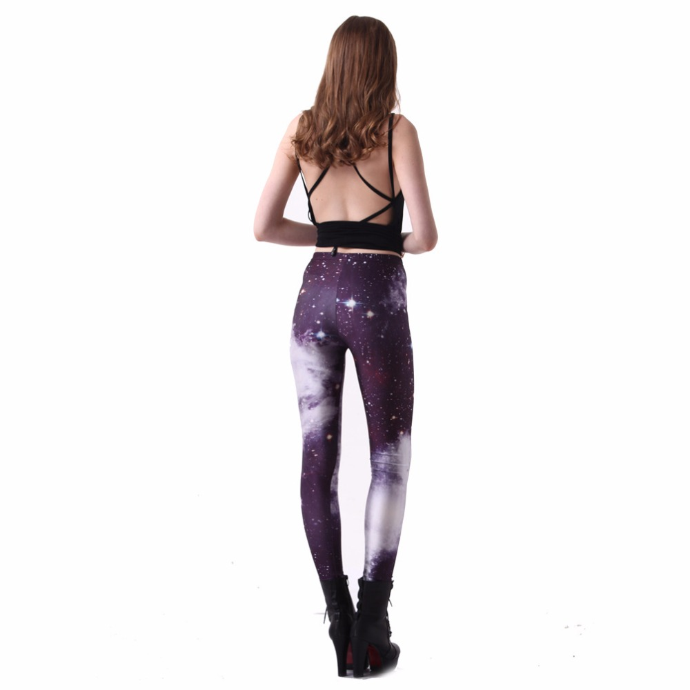 South American new hot fashion personality sexy casual large size Slim gradient leggings printed ladies high waist leggings