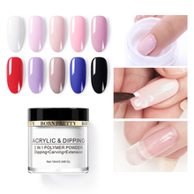 BORN PRETTY Dip Nail Powder Gradient French 3 In 1 Acrylic Polymer Carving Extension Manicure Art Decoration