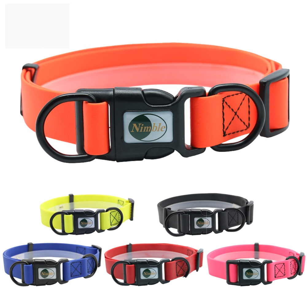 New-High-quality-pet-dog-collar-PVC-waterproof-Cat-collar-anti-dirty-easy-to-clean-for