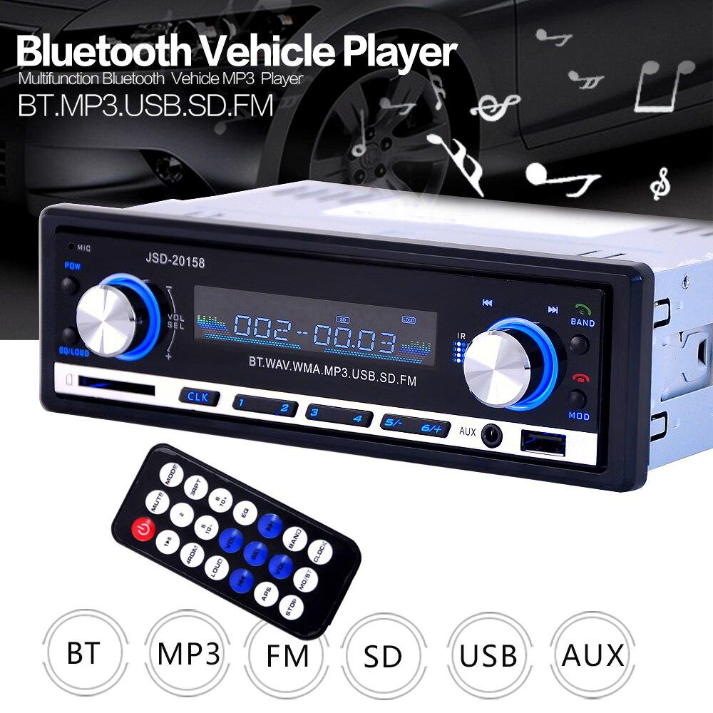 Bluetooth + Microphone voiture lecteur MP3 stéréo Audio In-Dash FM lecteur Radio MP3 avec AUX-IN SD USB 12 V USB MP3 MMC lecteur d'autoradio