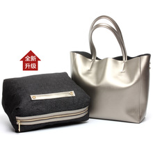 Womens new European and American fashion leather photo bag
