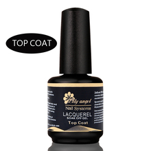Lily angel 2016 Professional 15ml Gelpolish Nail Top Coat Soak Off Gel Lacquer Varnishes UV Gel Nail Primer in nail art