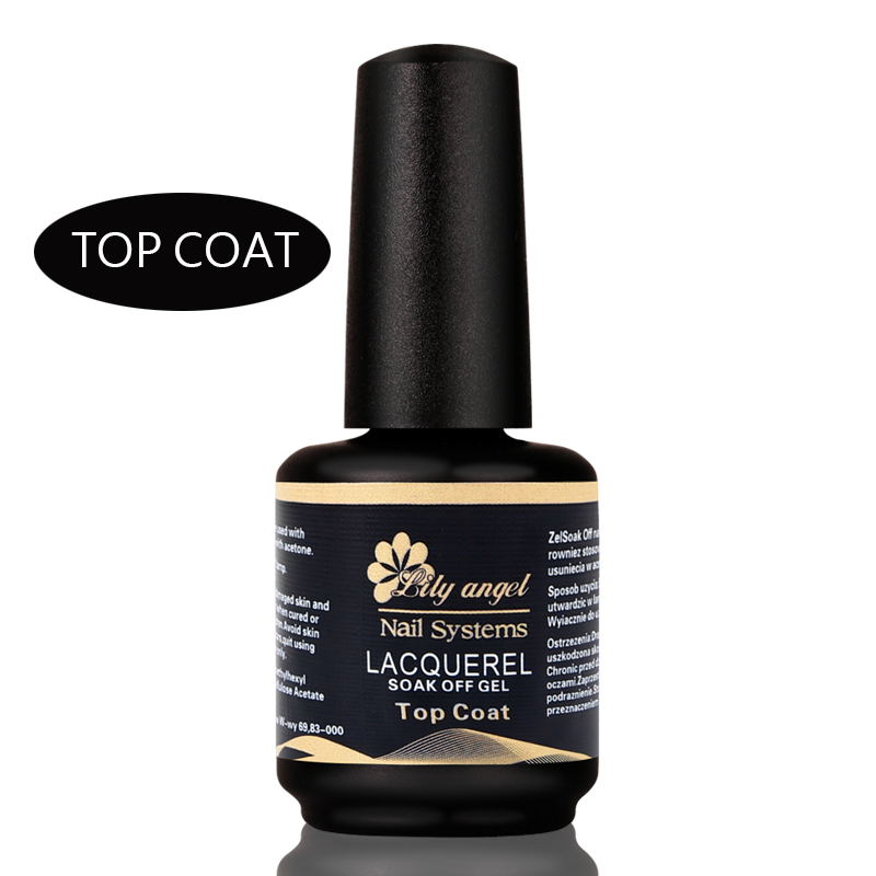 Lily ängel 2018 Professionell 15ml Gelpolish Nail Top Coat Soak Off - Nagel konst