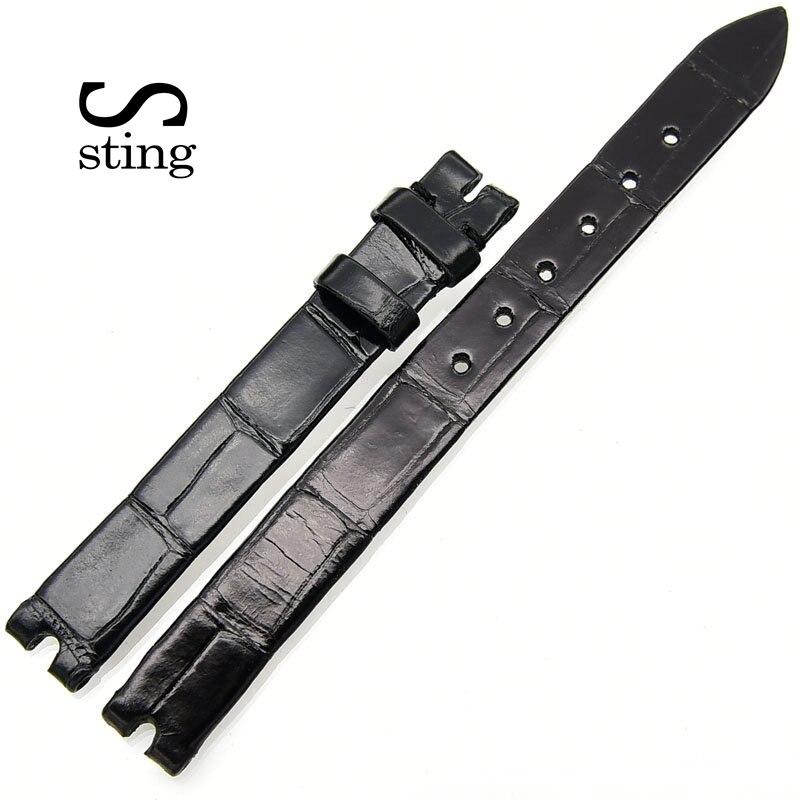Sting Strap Fashion Design 10 12mm Smooth Crocodile Watchband Women Watch Wrist Belt No Buckle Sting Strap Fashion Design 10 12mm Smooth Crocodile Watchband Women Watch Wrist Belt No Buckle