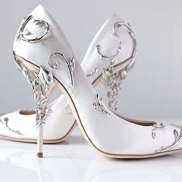 chaussures de mariée noir et blanc