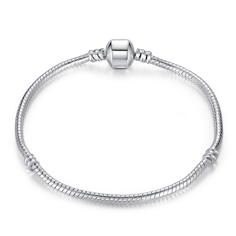 Luxury 100 925 Sterling Silver Charm Chain Fit Original Bracelet For Women Authentic Jewelry Gift