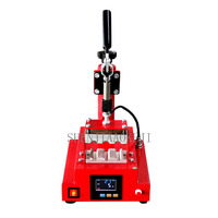 Multi function digital display hot press DIY pen printing Three station hot brush machine 220V/110V 600W
