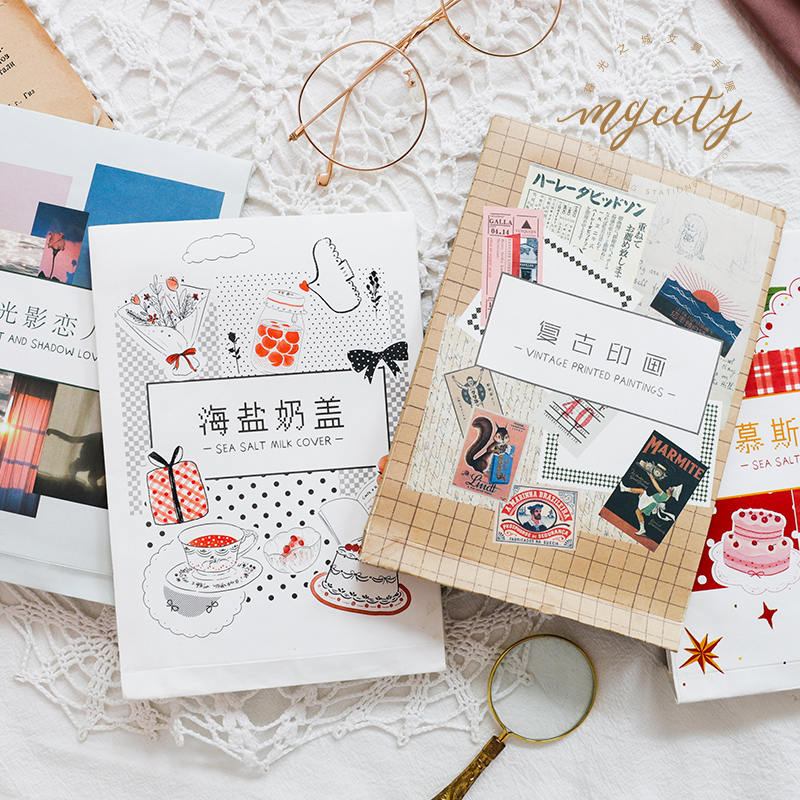 100pcs Creative Vintage Writable Paper Decoration DIY Album Diary Scrapbooking Notepad Label Stationery No Stickiness