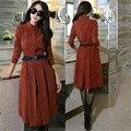 Autumn Dress Vestidos Long Sleeve Maxi Office Dress Plus Size 3XL Vintage Vestido Longo Woman Dress Winter Party Dresses C2500