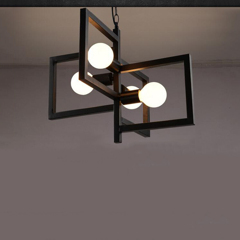 E27  Modern fashion simple bar chandeliers nordic wrought iron dining room bedroom staircase lampsE27  Modern fashion simple bar chandeliers nordic wrought iron dining room bedroom staircase lamps