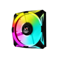 SOPLAY RGB 12CM Radiator PC Case Fan Cooler Backward Airflow with 4PIN Interface Hydraulic Bearing RGB light effect