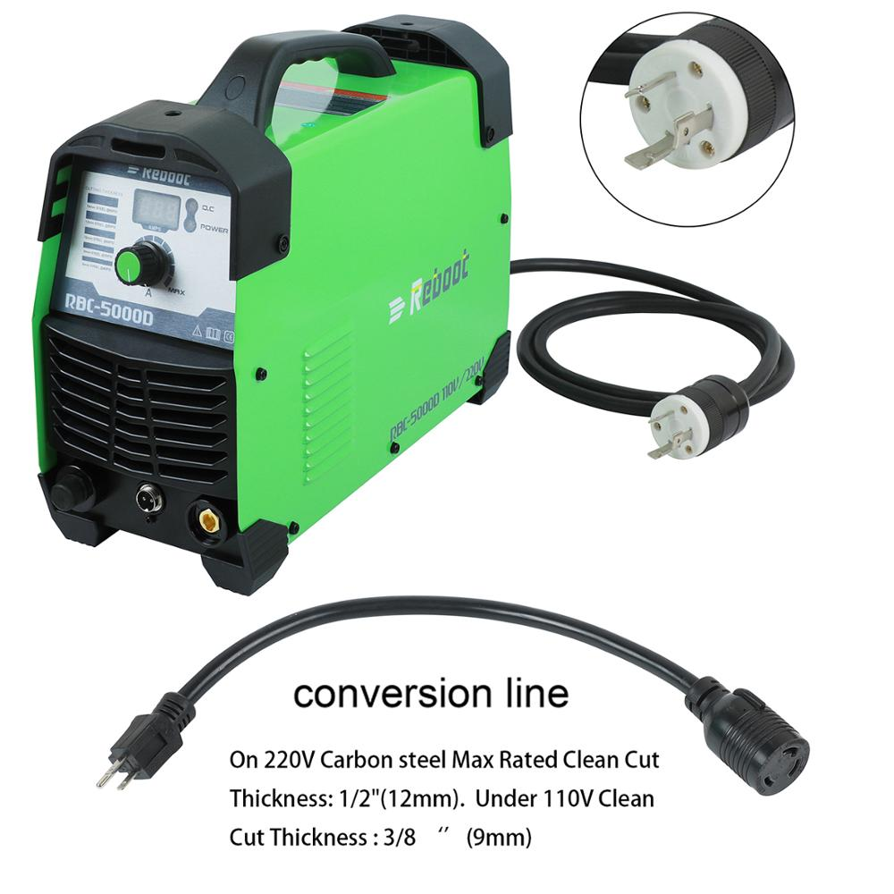 Plasma Cutter 50Amps Automatische 110/220V Dual Voltage Kompakte Metall Cutter AC 1/2