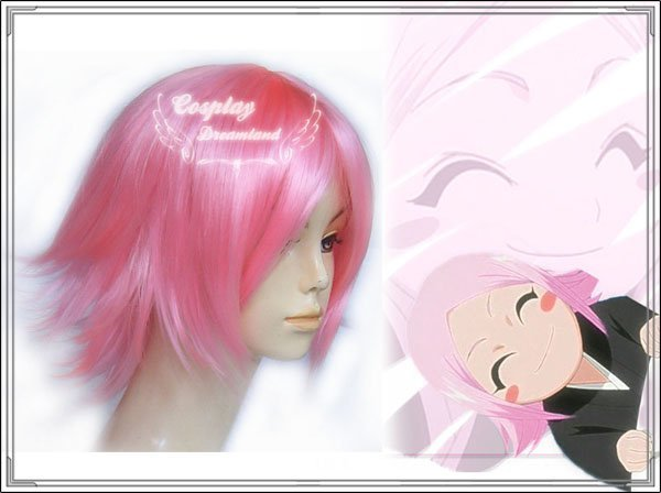 Wholesale Free Shipping Hot Selling Cheapest Halloween Bleach Cosplay Wig Kusajishi Yachiru Wig without headband