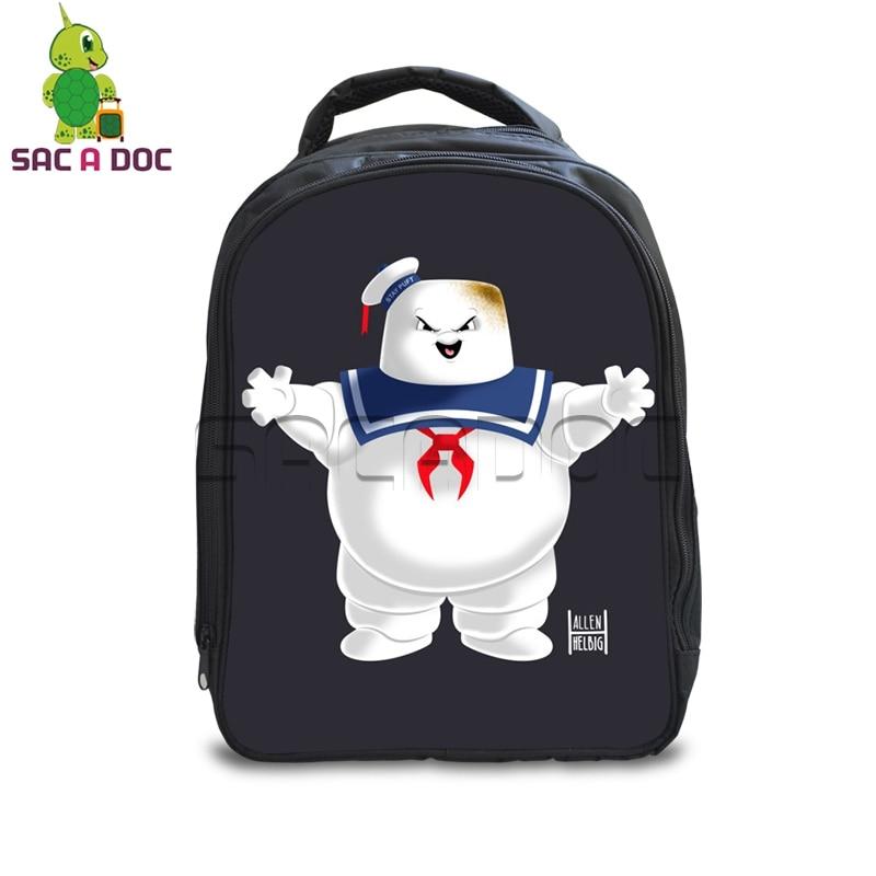 f77e6f904650 13 Inch Ghostbusters School Bags for Kindergarten Kids School Backpack  Girls Boys Children s Stay Puft Marshmellow