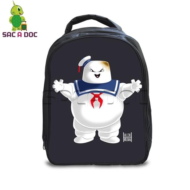 13 Inch Ghostbusters School Bags for Kindergarten Kids School Backpack  Girls Boys Children s Stay Puft Marshmellow Man Backpacks 5cda4f0b51