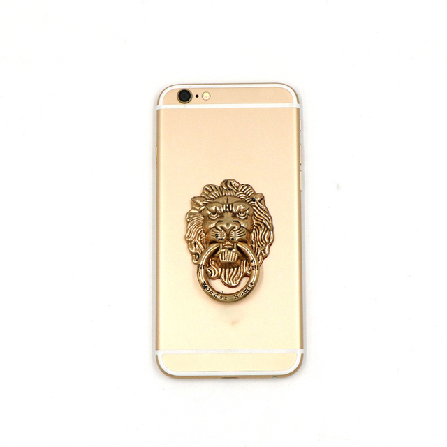 Vintage Lion head Finger Ring Mobile Cell Phone Hand Stand Holder Rotatin  Stand Holder Mount Bracket For iPhone Samsung Huawei