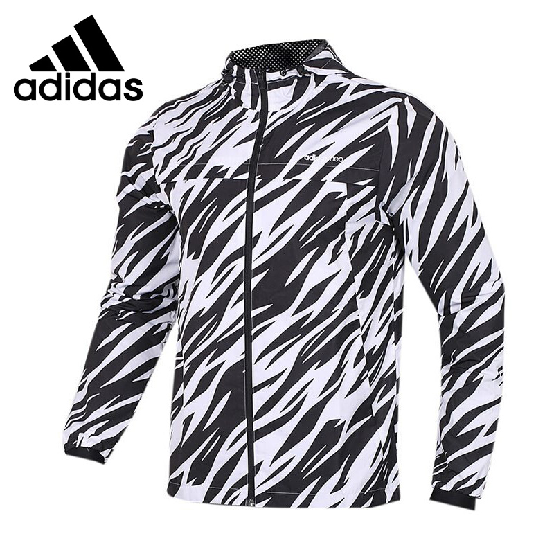 Original New Arrival 2018 Adidas Neo Label M FAV MESH L WB Men's jacket Hooded Sportswear original new arrival 2018 adidas neo label fav tshirt men s t shirts short sleeve sportswear