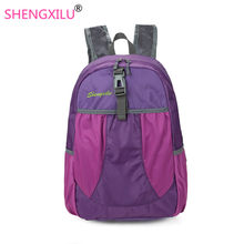 Shengxilu Fold Travel Lady Backpack 2018 Waterproof Backpack Women Bags Fashion Nylon Brand Women's School Bags Laptop Backpacks(China)