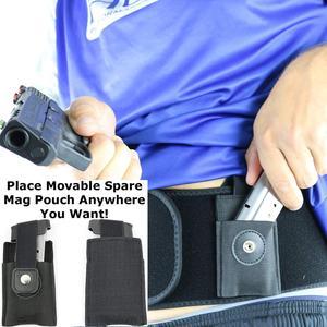 Image 4 - Sağ/sol el 2 in 1 Combo taktik karın bandı göbek tabanca tabanca kılıfı Glock 17 19 22 serisi Revolver en tabanca