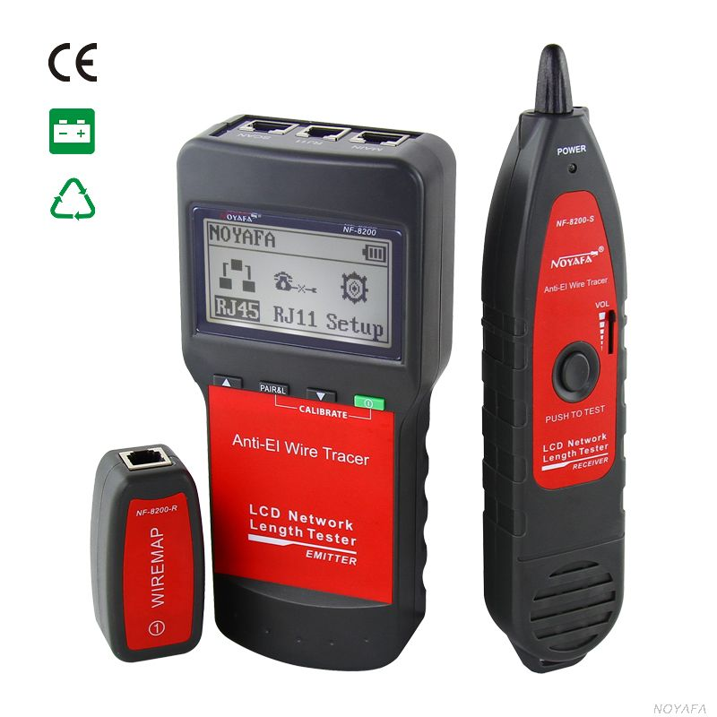 Free Shiping NOYAFA Factory NF-8200 cable tester RJ45 CAT5 CAT6 Wire tracker Locator чехол с аккумулятором gmini mpower case mpcs45 white для galaxy s4 4500mah