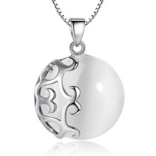 Wholesale Fashion Silver Opal Pendant Solid 925 Sterling With White YH2009