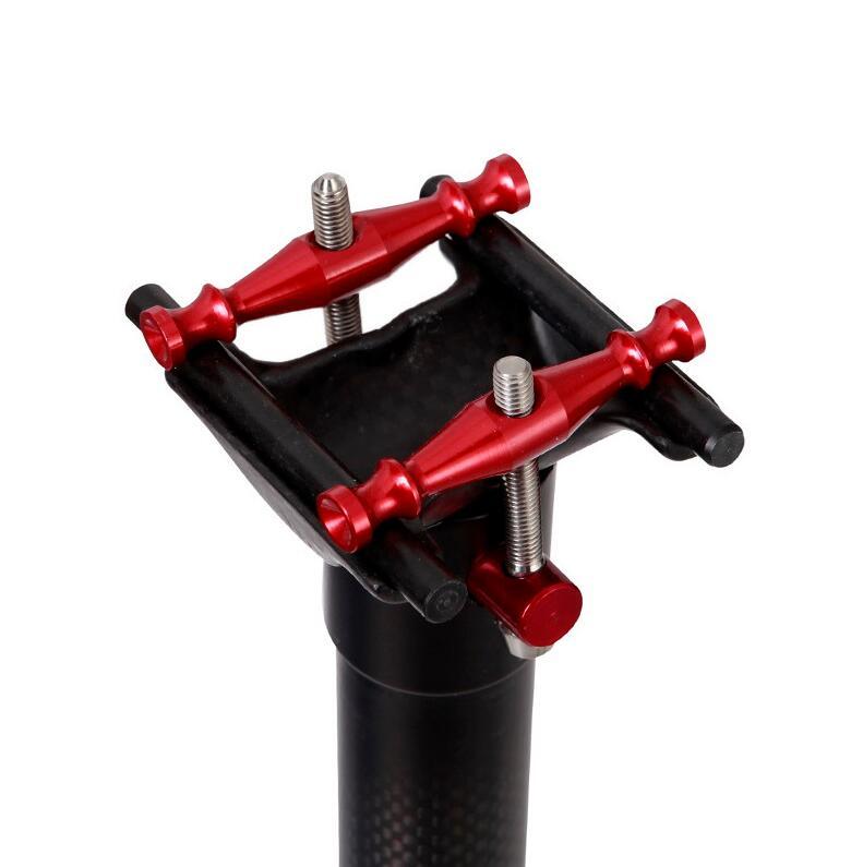 Hy карбоновый Подседельный штырь 27,2 мм/30,9 мм/31,6 мм 400 мм красный или Black 160g Ultra свет